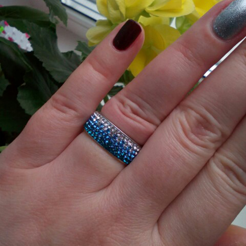 Crystal Fashion Jewelry Ring Wholesale Fashion Stainless Steel Ring for women size 6/7/8/9  1