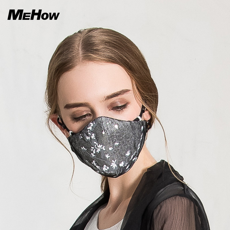 2pcs MeHow Cotton Mouth Mask Black PM2.5 Anti Haze Dust Masks Filter Windproof Mouth-muffle Bacteria Dust mouth mask Halloween free shipping 5pcs dust masks protection face prevent mist haze pm2 5 mouth masks with exhalation valve