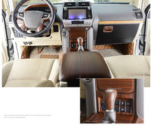 Luxury ABS Wood Chrome 34 pcs For Toyota Land Cruiser PRADO FJ150 2018 Car Interior Cover Trim Frame Decoration car accessories