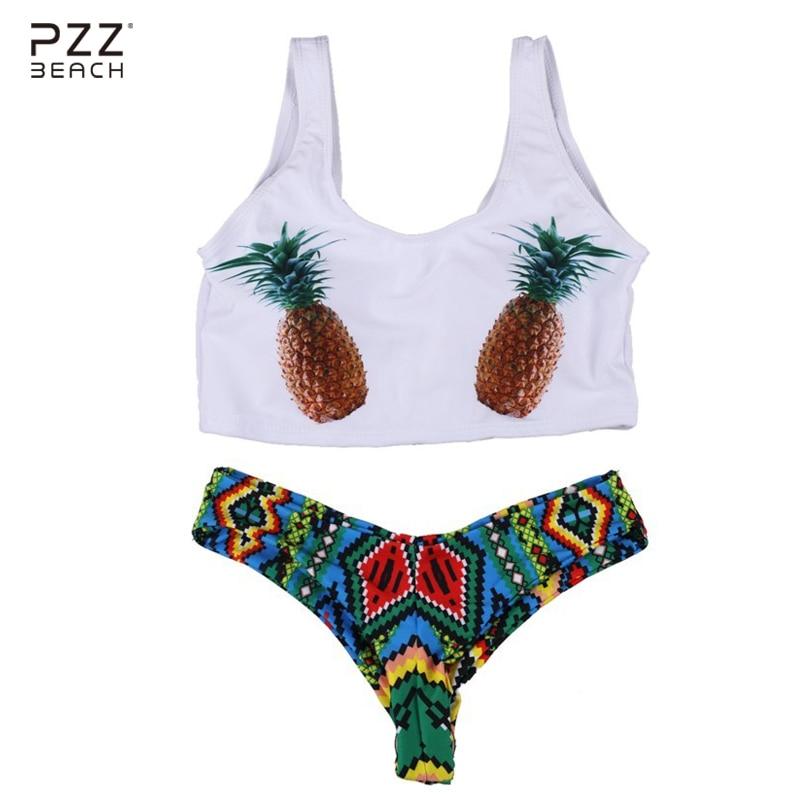Yeni Seksual Bikini Ananas Çimərlikləri Braziliya Bikinisi - İdman geyimləri və aksesuarları - Fotoqrafiya 1
