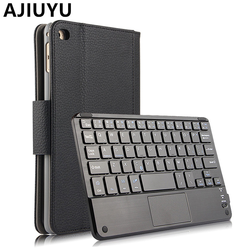 AJIUYU Case For iPad mini 4 Apple mini4 Protective Wireless Bluetooth keyboard Smart cover Leather Tablet Protector  7.9 inch