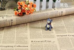 Image 3 - Selens 52*75CM בציר אנגלית עיתון פרה גלישת נייר רקע נייר טפט חבילה נייר עטיפת נייר