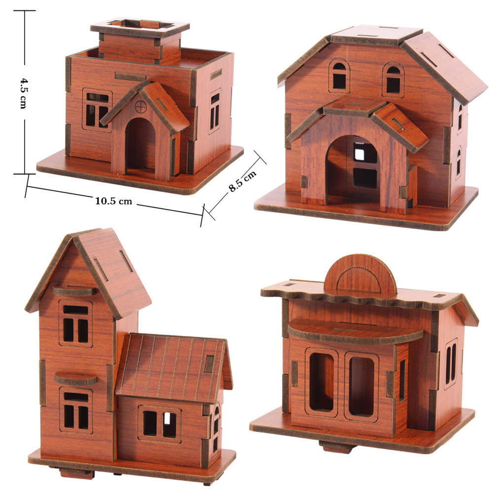 Toy Model Buildings : New education miniature home toys d puzzle wooden