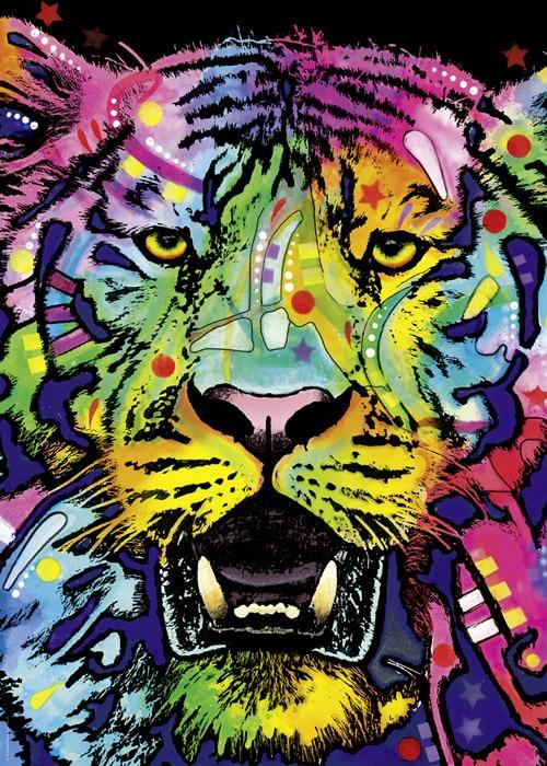Tigre coloré 1000 pièces Renova puzzle jouet éducatif adulte