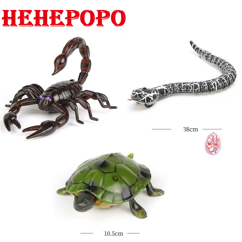 Hehepopo Infrared Remote Control Snake/Scorpion/Turtle Mock Fake RC Toy Animal Trick Novelty Jokes Prank For Boy Adult