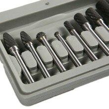 Fixmee 8 pçs carboneto de tungstênio rebarbas giratórias conjunto 6mm haste ajuste dremel ferramenta de bits rotativos