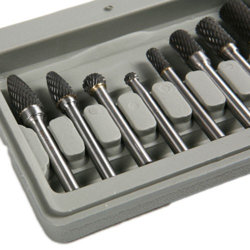 Fixmee 8PCS Tungsten Carbide Rotary Burrs Set 6mm Shank fit Dremel Rotary Bit Tool