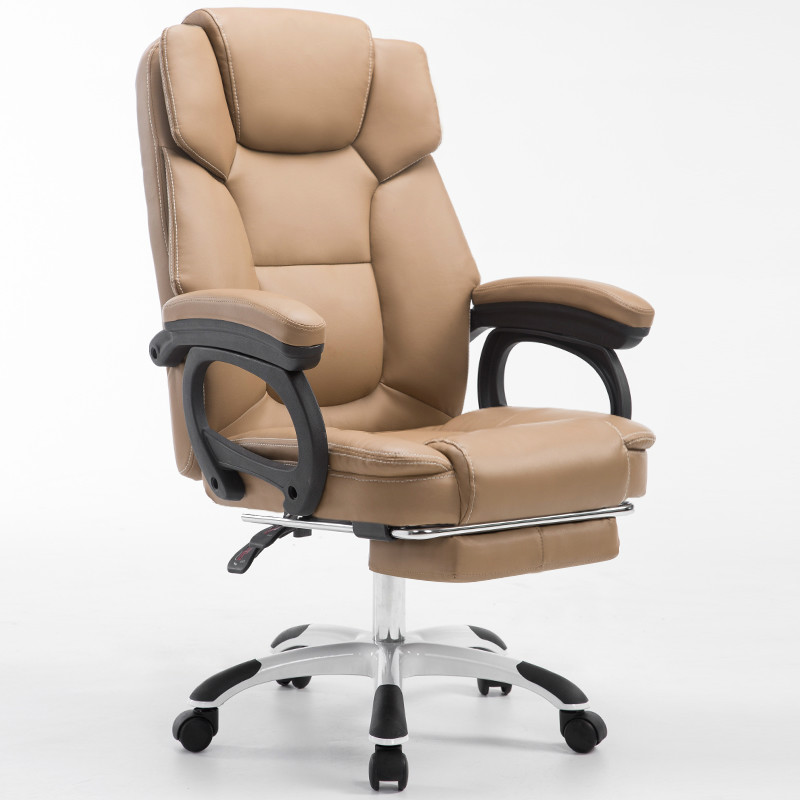 Office Chair Multifunction Office Computer Full-grain Leather Chair Swivel Reclining Boss Chair Household Chaise Silla Gamer
