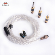 OKCSC Pure Silver 0.78mm 2PIN Upgrade Earphone Cables The Awesome Plug Set for Westone 1964