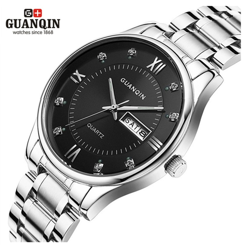 GUANQIN Luminous Watches Original Clock Waterproof Luxury Brand Quartz Male Reloj Men