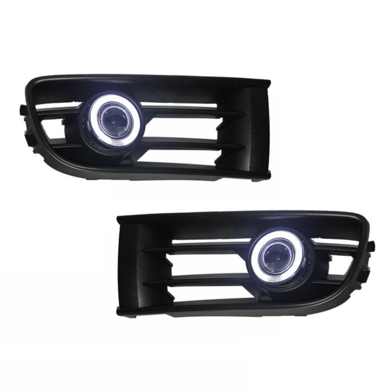 Car-Styling For Volkswagen Polo MK4 LED Angel Eyes DRL Yellow Signal Light H11 Halogen / Xenon Fog Lights with Projector Lens car styling for volkswagen polo 2006 2010 led angel eyes drl yellow signal light h11 halogen fog lights with projector lens