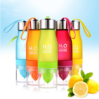 650ml H2O לימון מיץ מים בקבוק פירות Infuser Drinkware ספורט שייקר חמוד מים שתיית בקבוקי BPA משלוח עגבניות בקבוק מי-בבקבוקי מים מתוך בית וגן באתר