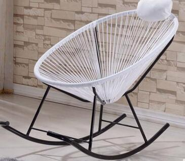 Leisure adult rocker. Lunch chairs. Lazy waterproof cane leisure chair