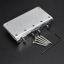 8 Pack Silver Chrome 4 String Electric Bass Guitar Bridge + 5 Screws + Wrenche