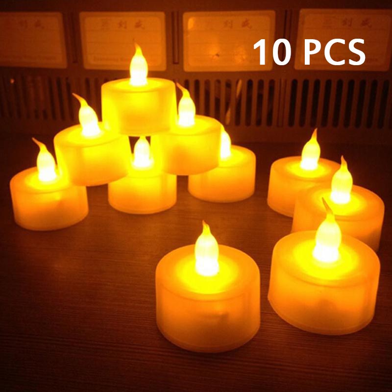 Home Decor Qualified 10pcs/lot Battery Light Led Candle Home Decoration Wedding Electric Festival Party Birthday Candles Bar Decor Flickering Rich In Poetic And Pictorial Splendor Home & Garden