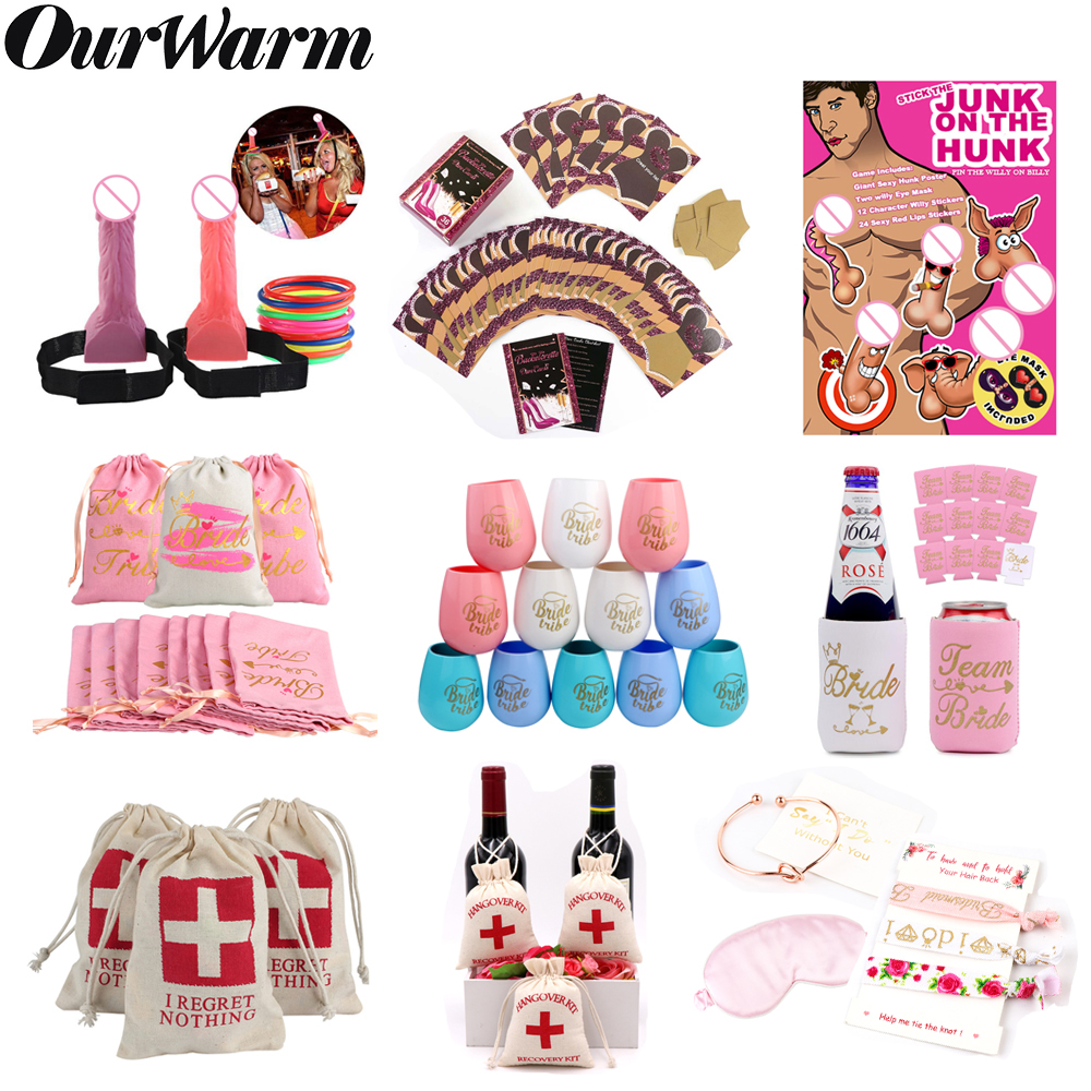 OurWarm Bachelorette Party Supplies Games Gifts Hen Night Bridal Shower Favor Bride To Be Favors bags