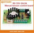 Бесплатные Корабль Оптовая 50/15V-2A, 3А Manual tension control board/регулировочной пластины для резки Магнитный порошок сцепления тормоза
