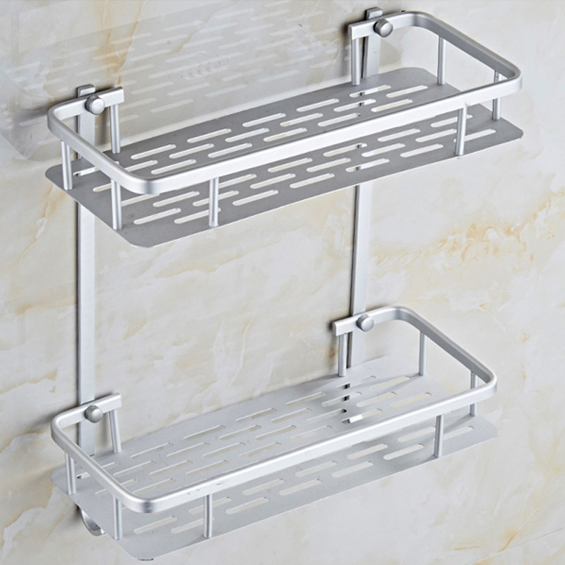 Aluminum Bathroom Rack, Bathroom Shelves Punch/ No Punch