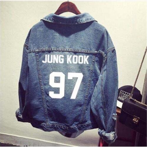 Exo Kpop Clothes Shirt Denim Jacket Hole Coat Female Baseball K-pop Exo Bulletproof Uniform Hoodie Outerwears Tops Sweatshirts