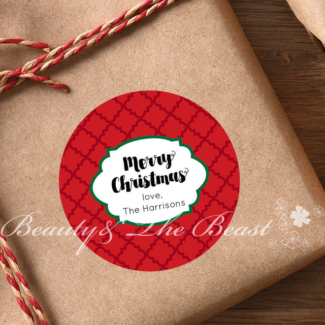 Custom Christmas Stickerschristmas Tagsgift Box Labels For Christmascupcake Toppers