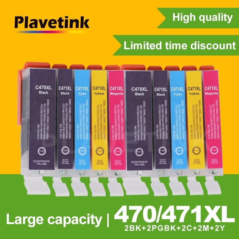 Plavetink 10PCS Ink Cartridge For Canon 470 PGI470 PGI-470 For Canon PIXMA MG5740 MG6840 MG6840 MG 5740 TS5040 Printer InkPlavetink 10PCS Ink Cartridge For Canon 470 PGI470 PGI-470 For Canon PIXMA MG5740 MG6840 MG6840 MG 5740 TS5040 Printer Ink