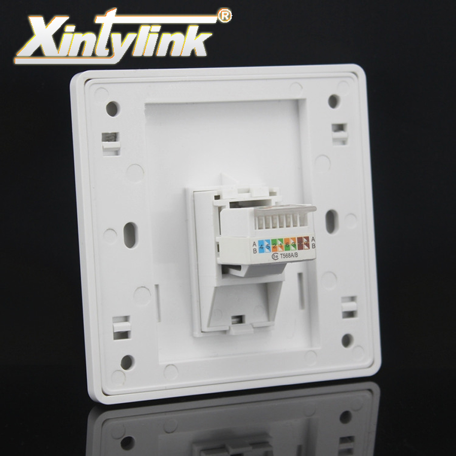 xintylink rj45 Socket panel jack modular 1 Port cat5e cat6 white Keystone pc Wall Face plate Faceplate toolless computer 86mm 120mm wall plate 4 ports network ethernet lan cat5e rj45 socket panel faceplate home plug adapter