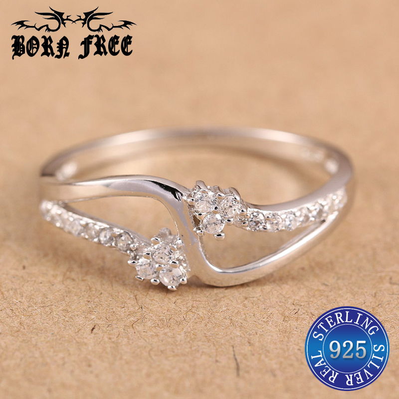 925 Sterling Silver Rings Wave Finger Ring Anillos Mujer Bague Ringen Set Wedding Woman Ring Luxury Zirconia Fashion Jewelry Men Professional Design