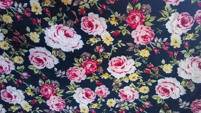 160cm wide printed flower fabric polyester stretch spandex fabric