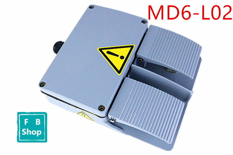 1PCS MD6-L02 aluminum gray double with KH9011 core silver point foot pedal switch YDT1-16 redpower md6