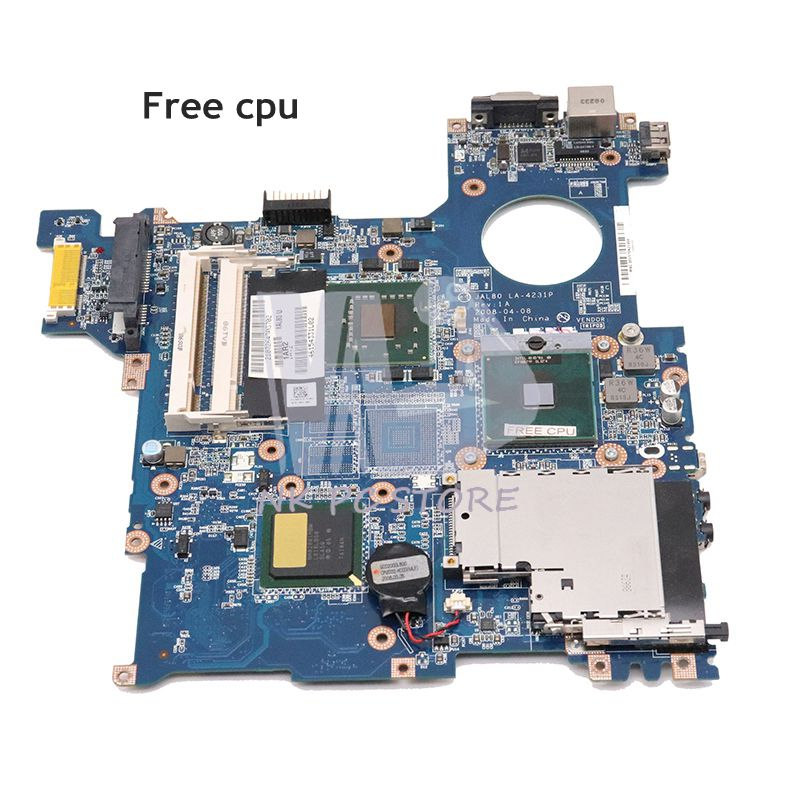 NOKOTION 0R511C R511C For Dell Vostro 1310 Laptop Motherboard JAL80 LA-4231P Main Board GM45 DDR2 Free Cpu