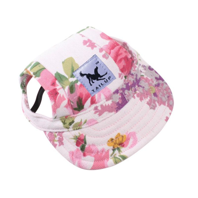 Princess Dog Cap Breathable With Ear Holes / Mesh Sun Hat / Beach Hat For Small Puppy Summer Pet Products 10 Styles