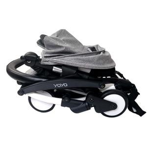 Image 5 - Baby Carriage Bumper Bar PU Leather Multi angle Adjustable Armrest For Babyzen yoyo Stroller Accessories Pram Bar handrail