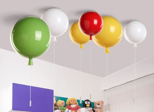 Girl room lamp led warm romantic bedroom ceiling lamp creative restaurant light color balloon art ceiling light