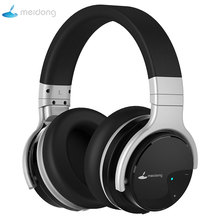 Купить с кэшбэком Meidong E7B Active Noise Cancelling Headphones Over ear Wireless Bluetooth Headset with microphone for phones