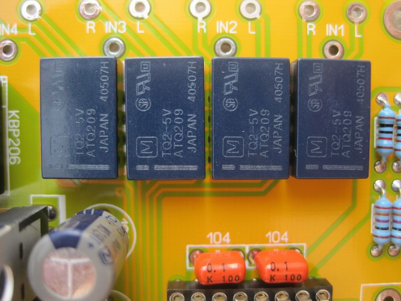 DIY KIT HIFI JV10 PGA2311 preamp board volume control / aluminum remote / 4 way input