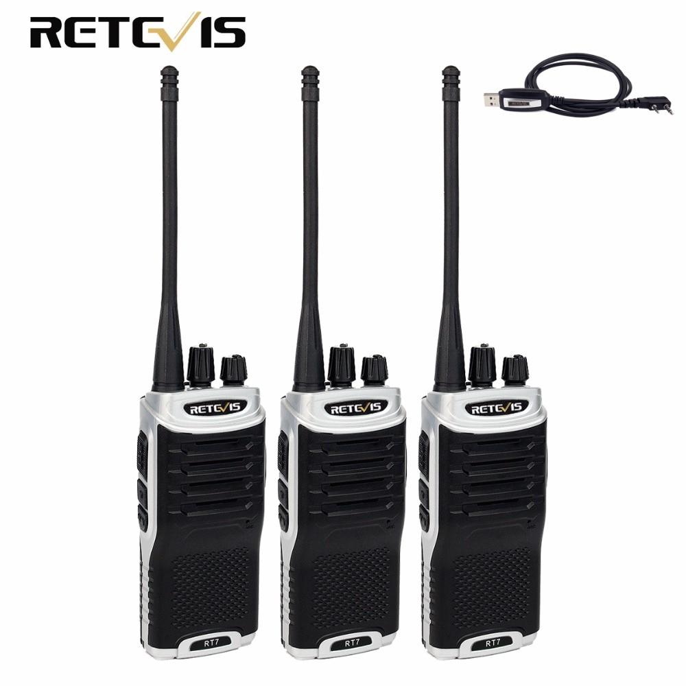 3 stücke Retevis RT7 Talkie Walkie 5 Watt UHF 400-470 MHz Radio Amador CTCSS/DCS FM Radio handlich 2 Weg Amateurfunk