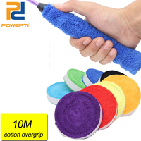 POWERTI Cotton Towel Sweatband Tennis Racket Overgrip Tacky Sweatband Stick Sweet Grip Sport Men 10m