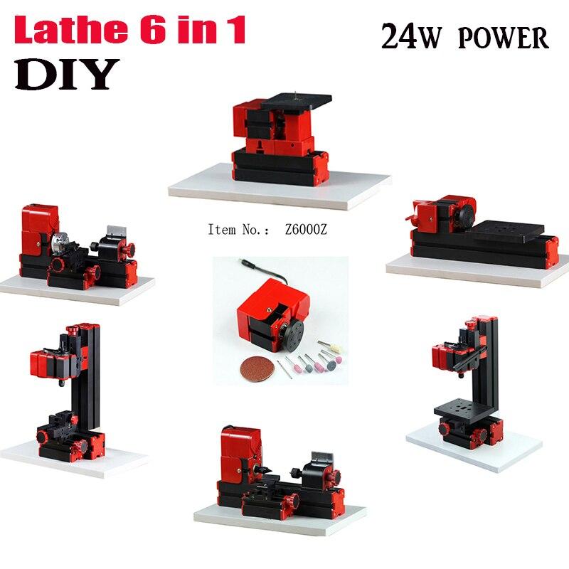 diy 6 in 1 Mini Lathe,Milling,Drilling ,Wood Turning ,Jag Saw and Sanding Machine,Mini Combined Machine Tool, DIY Tool ship DHL