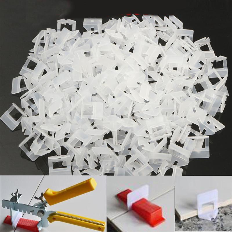 200pcs Plastic Ceramic Tile Leveling System 200 Clips Tiling Flooring Tools Clips