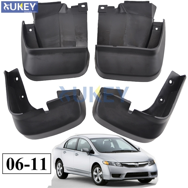 For Honda Civic 2006 2017 Mudflaps Splash Guards Front Rear Mud Flap Mudguards Fender 2007 2008 2009 2010 Set Molded Flaps