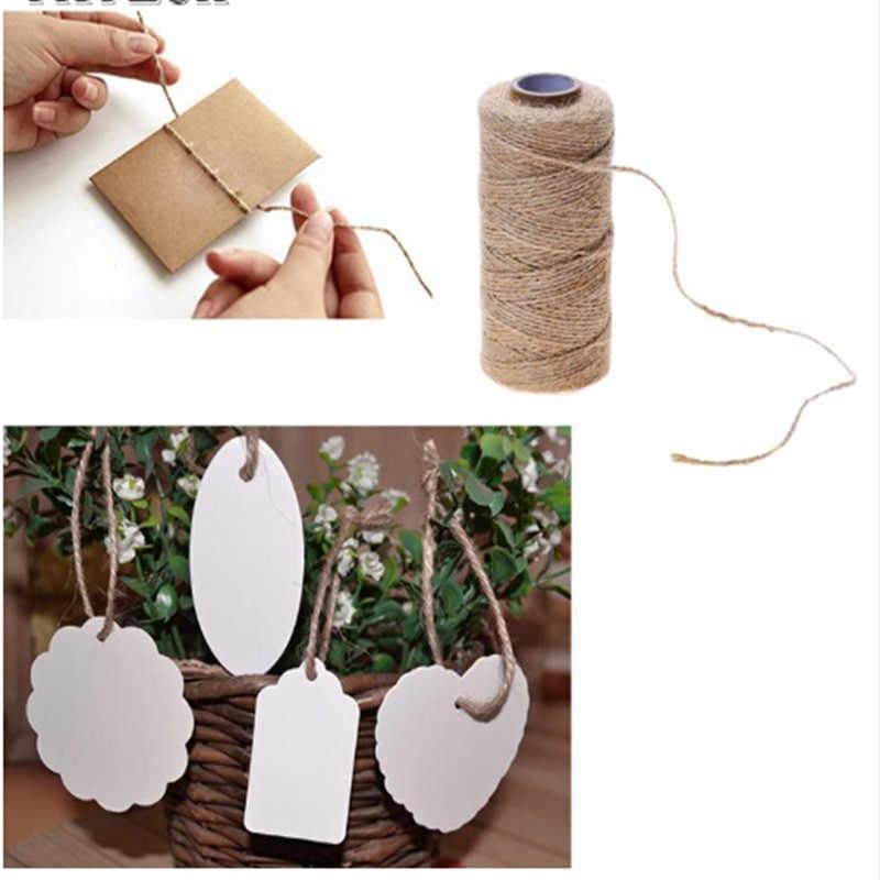 1 rolle Natürlichen Trockenen Schnur Schnur Jute Bindfäden Seil Gewinde Für DIY Decor Spielzeug Handwerk Teile Hochzeit Geschenk Verpackung Cords