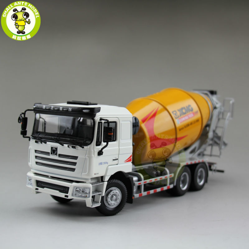 1/35 XCMG MAN Schwing Concrete Mixing Truck Construction Machinery Diecast Model Toy Hobby 1 35 xugong xcmg xe215c excavator alloy truck diecast model construction vehicles toy