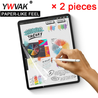 2 pieces Paper Like Screen Protector Film Matte PET Anti Glare Painting For Apple iPad mini 5 9.7 10.2 10.5 Face ID 11 12.9 inch|Tablet Screen Protectors| |  -