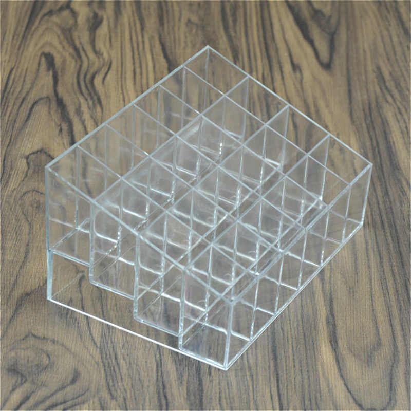 Transparent Acrylic 24 Lipstick Display Stand Case Jewelry Box Makeup Organizer Tool Cosmetic Home Storage Holder NShopping