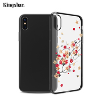 KINGXBAR For IPhone X 10 Case Authorized Swarovski Crystal Plated PC Back Cover For IPhone X