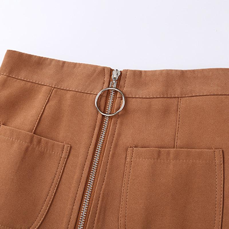 HTB1.afbfJqUQKJjSZFIq6AOkFXag - Suede Skirt Fashion High Waist Zippers JKP343