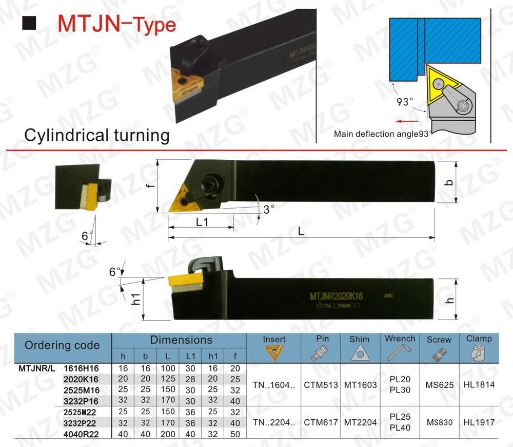 Mzg 20 мм 25 mtjnr1616h16 обрабатывающий расточный Резак металлический