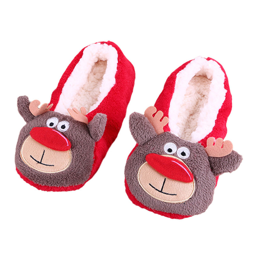 Women Ladies Winter Lovely Cotton Warm Indoor Slippers Soft Plush Christmas Shoes Home Floor Soft Stripe Slippers zapatos S darseel shoes women s slippers boa