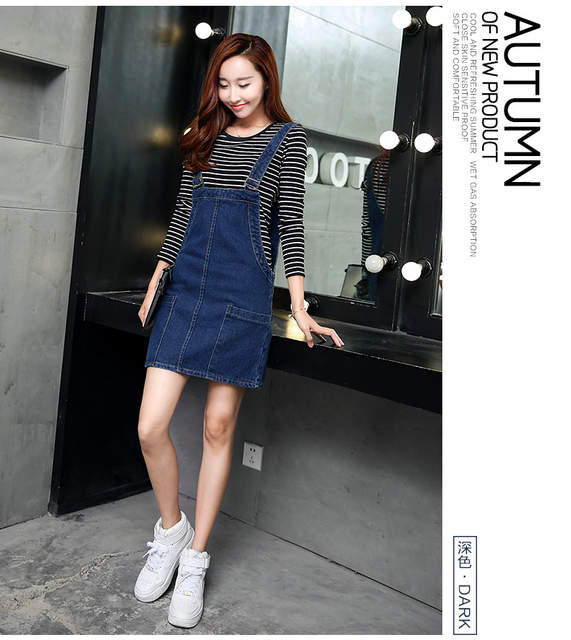 0650fcad08 Online Shop New fashion sweet cool preppy style women cute girl braces  pocket denim dress a-line suspender dress female charming lady wear