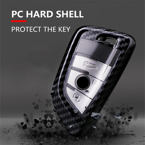 Image 5 - Carbon fiber+PC Car Key Case Cover for Bmw New X1 X5 X6 2 5 7 Series 2014 2016 360° Protection Waterproof Keychain Accessories